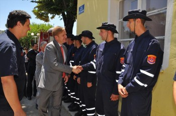 Visit of Head of EU Delegation/EUSR Sørensen to Fire brigade HQ Trebinje in connection with IPA Cross-border Co-operation (BiH - Montenegro) project 'Be Ready'.