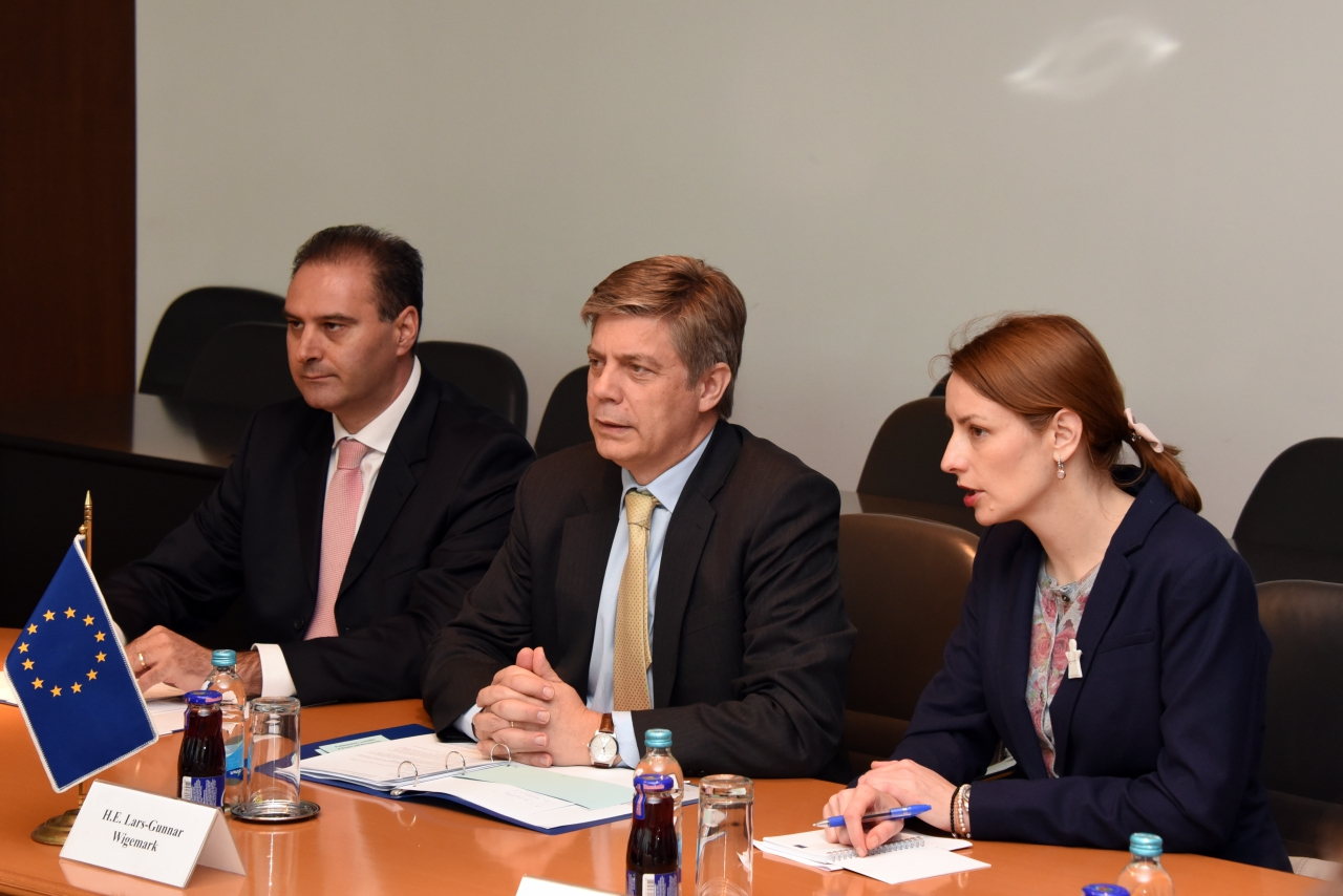 Ambassador Wigemark meets with the leaderships of the BiH Parliament's Houses
