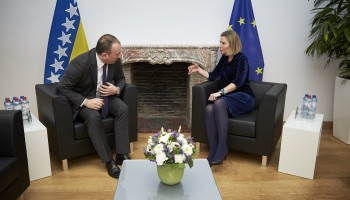 HR/VP Mogherini and BiH Foreign Minister Crnadak