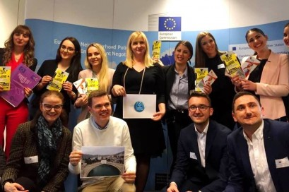 E4U winning team at DG NEAR in Brussels