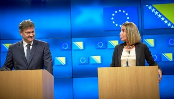 HR/VP Mogherini and Chair Zvizdić