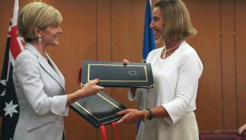 HR/VP Federica Mogherini and Australian MFA Julie Bishop